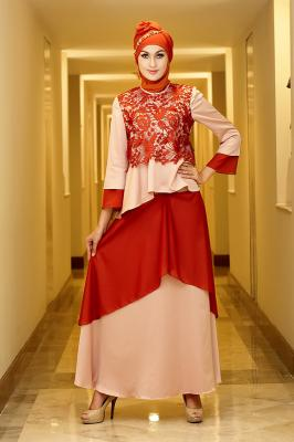 Dress 05 teracota_peach dress bunda. Bisa pesan dress anak,koko ayah,koko anak