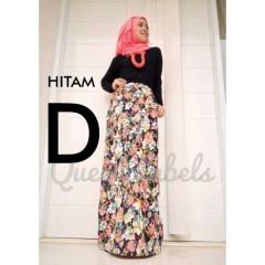busana hijabers terbaru GRUVEN by Queena hitam
