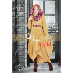 gamis pesta terbaru HANNA By QHI Style Gold