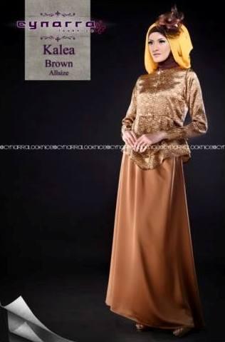 busana muslim modern KALEA BY CYNARRA Brown