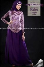 busana gamis pesta KALEA BY CYNARRA Purple