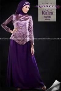 busana gamis pesta KALEA BY CYNARRA Purple