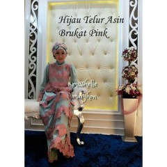 Mishelle dress by marghon Hijau Telur asin Brukat Pink