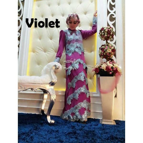 Mishelle Violet Baju Muslim Gamis Modern