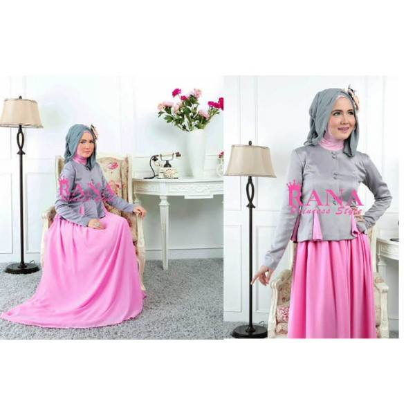 model gaun pesta elegan Gamis Terbaru Nirmala by RANA Pink