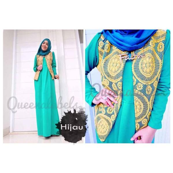 Flavia By Queena Hijau Baju Muslim Gamis Modern