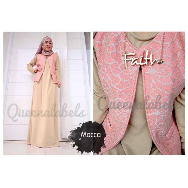 Flavia By Queena Mocca Baju Muslim Gamis Modern