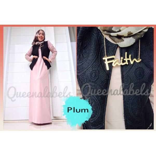 Flavia By Queena Plum Baju Muslim Gamis Modern