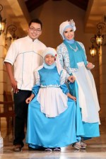 busana kerja wanita muslim Rj 08 biru-putih sarimbit. Bisa pesan koko anak.