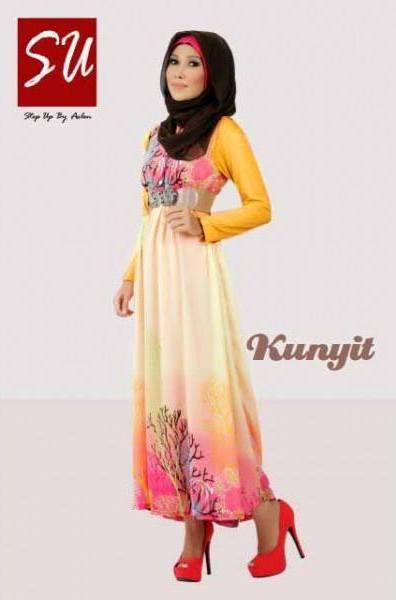 Su Aashka Kunyit Baju Muslim Gamis Modern