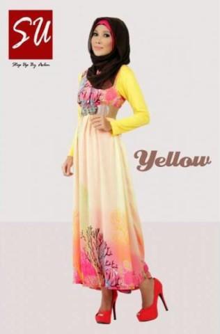 gamis rabbani collection STEP UP AASHKA Yellow