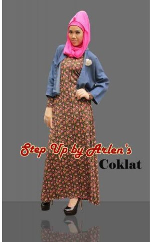 gamis model terbaru 2014 STEP UP GIOVANA Coklat