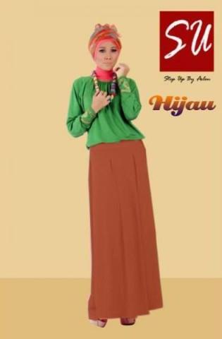 model baju gamis 2014 STEP UP HABIBAH Hijau