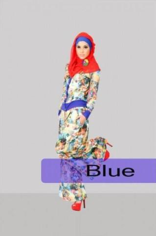 busana pesta untuk muslimah STEP UP LILYA 2 Blue