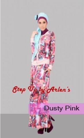 baju wanita modern terbaru STEP UP LILYA 2 Dusty Pink