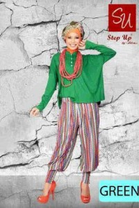 gamis rabbani collection STEP UP MONICA Green