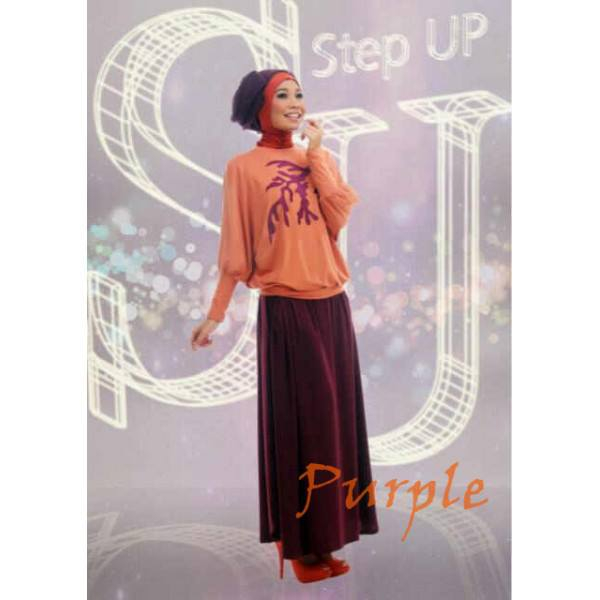 Su Najwa 2 Purple Baju Muslim Gamis Modern