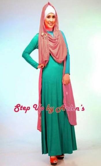 Su Novriza Rompi Salem Baju Muslim Gamis Modern