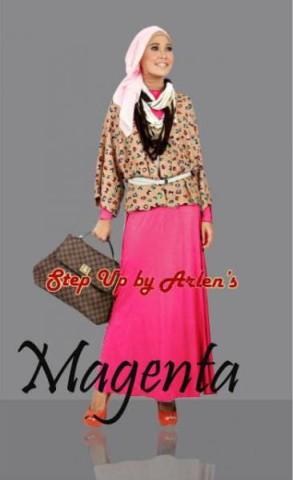 gamis untuk pesta STEP UP VALONIA Magenta