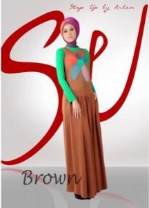 baju gamis 2014 STEP UP YUNIA Brown