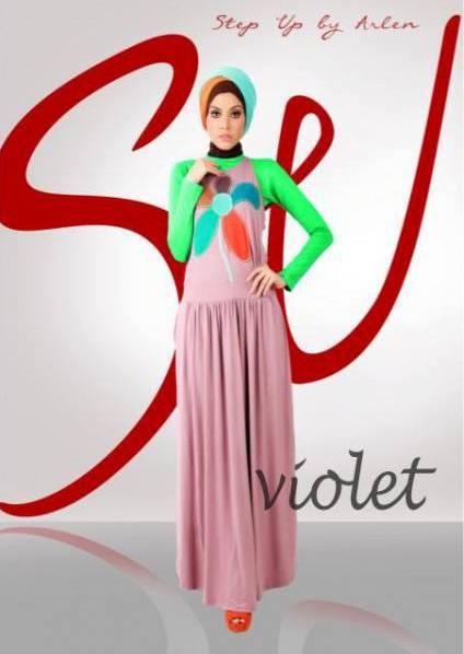 Su Yunia Violet Baju Muslim Gamis Modern