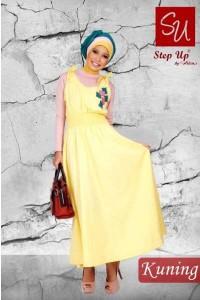 gamis ukhti terbaru Step Up RAIDA Kuning