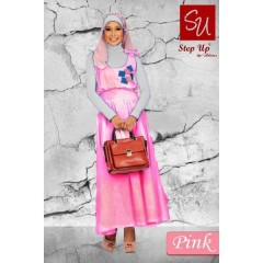 ukhti gamis muslimah Step Up RAIDA Pink