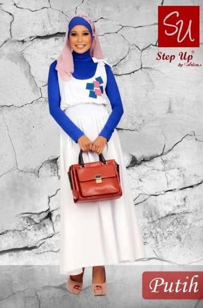 Su Raida Putih Baju Muslim Gamis Modern