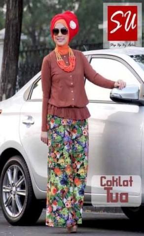 pakaian wanita modern online Step Up ZURY (2099) Coklat Tua
