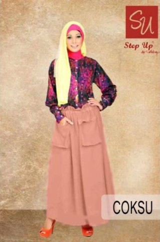 model gamis zahrani terbaru Step up Abayomi Coksu