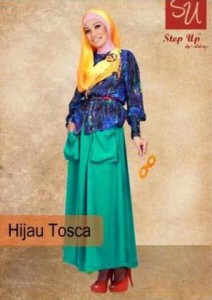 gamis rabbani collection Step up Abayomi Hijau Tosca