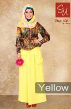 gamis online terbaru Step up Abayomi Yellow