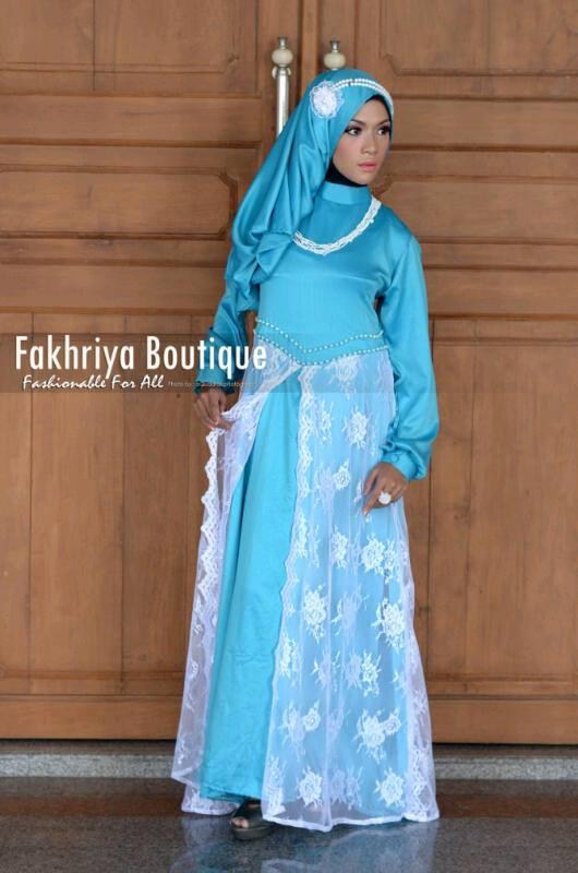 Syakira Hijau Baju Muslim Gamis Modern