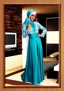 gaun muslimah online Turquice Cavelli
