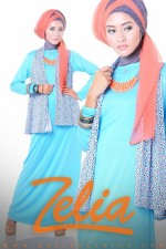 baju muslim trend 2013 Zelia Coriander dress biru muda
