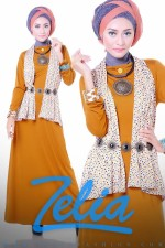 baju muslim trend 2013 Zelia Coriander dress orange bata