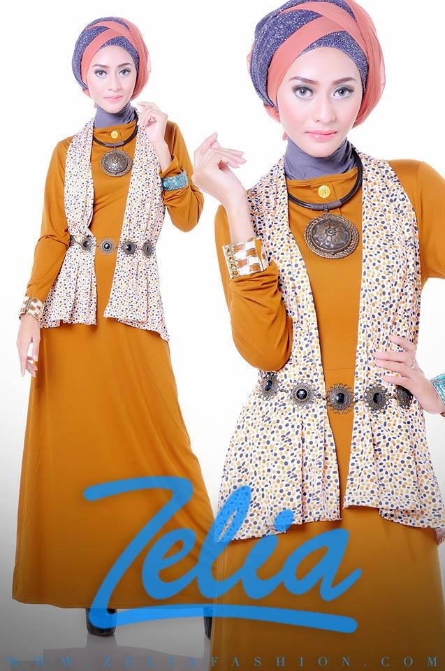 baju muslim trend 2013 Zelia Coriander dress orange bata
