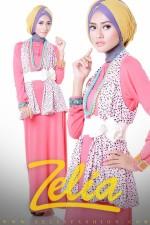 baju muslim trend 2013 Zelia Coriander dress peach
