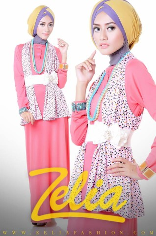 baju muslim trend 2013 Zelia Coriander dress peach