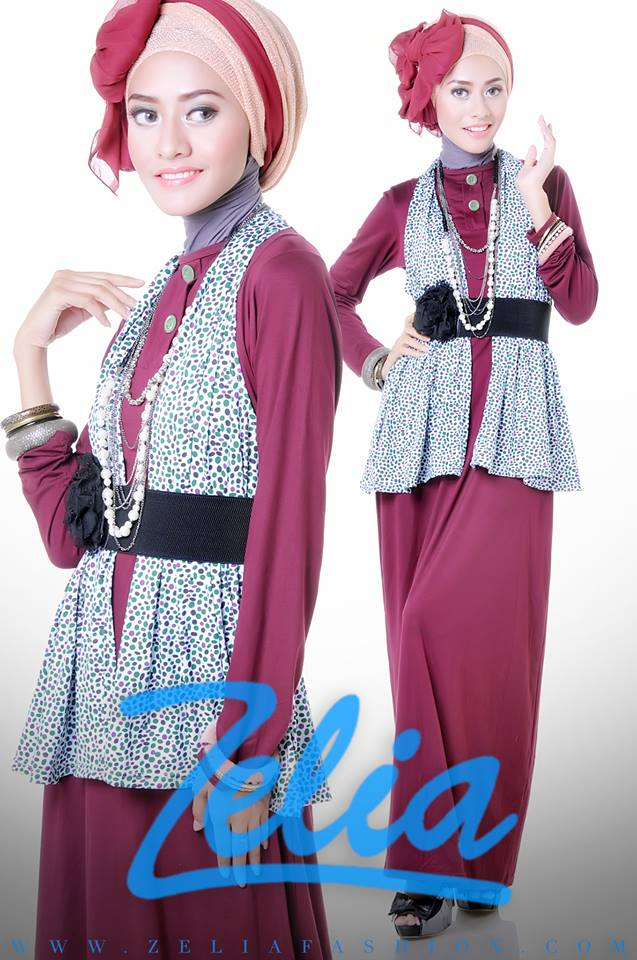 Coriander Ungu Baju Muslim Gamis Modern