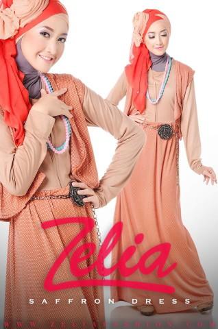Gamis Style Saffron Dress Warna Salem