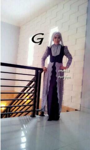 model busana muslim wanita modern AMARILIS by Marghon G