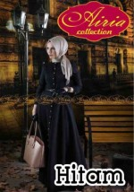 gamis modern AUTUMN DRESS Hitam