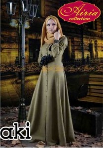 gamis model terbaru AUTUMN DRESS Khaki