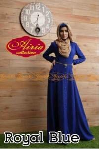 gamis model terbaru 2014 AUTUMN DRESS Royal Blue