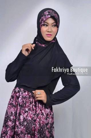 model baju gamis 2014 Anjani By Fakhriya Hitam
