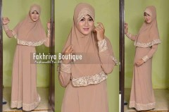 gamis rabbani collection Aulia By Fakhriya Coklat