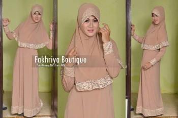 gamis rabbani collection Aulia By Fakhriya Coklat