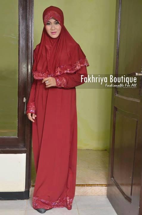Aulia By Fakhriya Merah Baju Muslim Gamis Modern