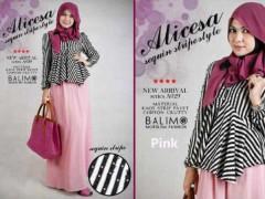 busana hijabers online BALIMO ALICESA Pink